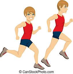 Man Running Poses