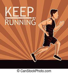 Man running sport