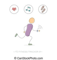 Man running with a fitness tracker