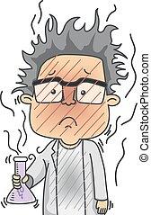 Man Scientist Error Lab - Illustration of a Man Dressed as a...