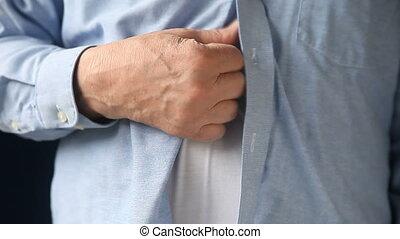 man scratching