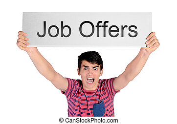 man screaming job offers