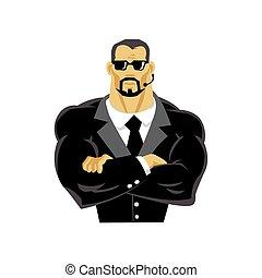 Man security guard vector