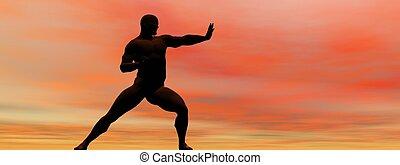 man self defence and sky orange
