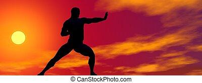man self defence and sun