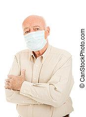 man, -, senior, epidemie