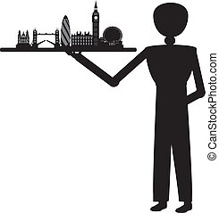 man serving london