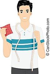 Man Sew Tape Measure Sample Fabric