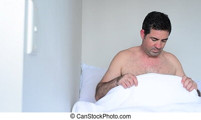 Man sex and relationship problem - Upset man in his forties...
