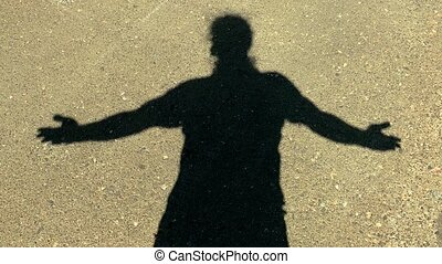 Man Shadow on Wall Expressions