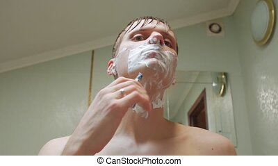 Man Shaves Time Lapse