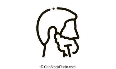 Man Shaving With Razor Icon Animation. black Man Shaving With Razor animated icon on white background