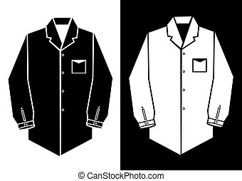 man shirt vector illustration