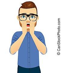 Man Shocked Surprise Expression