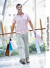man, shoppen , in, mall