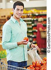 Man shopping at store