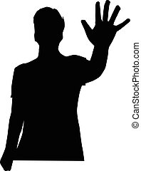 man show numbers silhouette