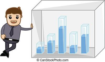 Man Showing Business Graph Bar