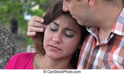 Man Showing Empathy To Woman