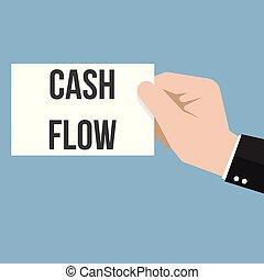 Man showing paper CASH FLOW text