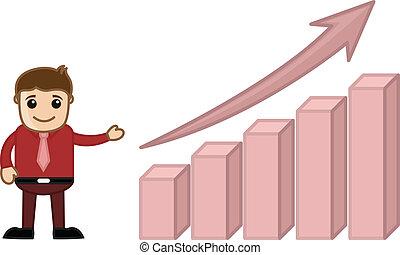 Man Showing Stats Bar Growing Up