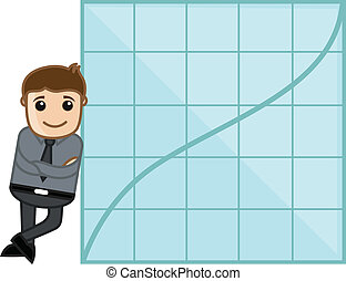 Man Showing Success Graph Vector