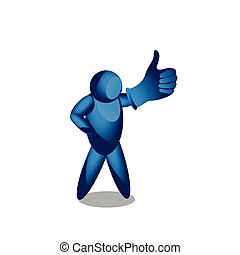 man shows a sign Thumb Down. vector illustrator