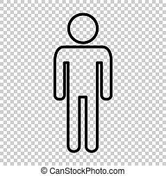 Man sign. Line icon