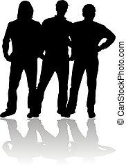 man., silhouette