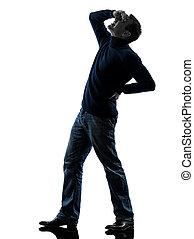 man silhouette full length