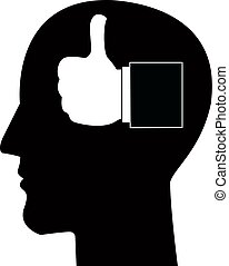 Man silhouette head