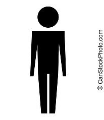 man silhouette isolated icon