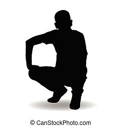 man silhouette posing illustration