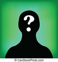 Man silhouette profile picture