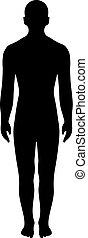 Man silhouette vector illustration