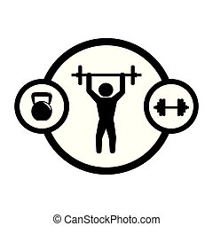 man silhouette weight lifting