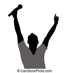 man singing illustration