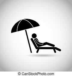 man sitting in a beach chair