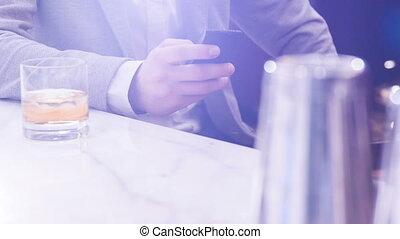 Man sitting in the bar