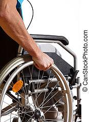 Man sitting in wheelchair