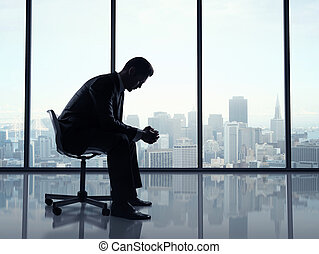 man sitting office