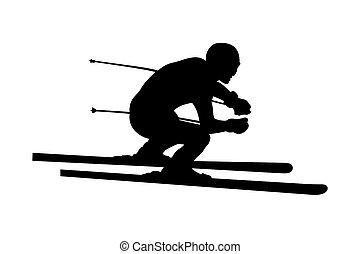 man skier athlete