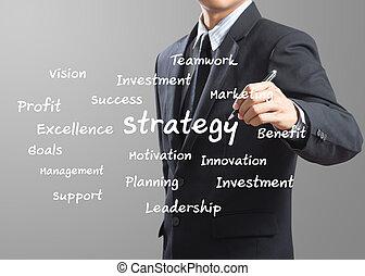 man, skrift, affärsverksamhet strategi