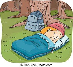 Man Sleeping Bag