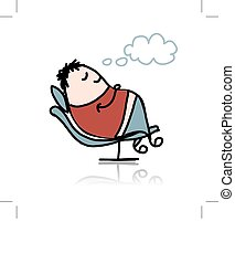 Man sleeping in armchair