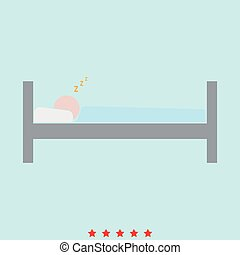 Man sleeping set it is color icon .