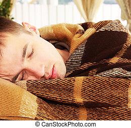 Man sleeps