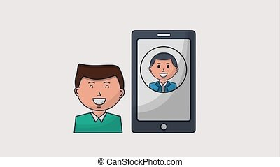 human resources people - man smartphone human resources...