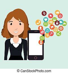 man smartphone social media