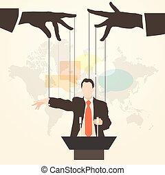 man speaker silhouette party leader - Vector illustration...